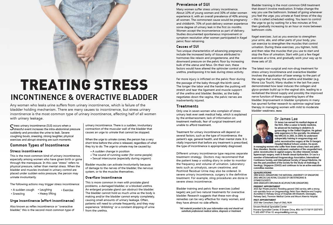 Prime Magazine Editorial (Incontinence & Overactive Bladder